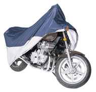 Armor Shield Motorcycle Cover Fits Motorcycles Upto 1100cc With or W/O Accessories, Black/Silver