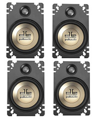 4-Pack Polk Audio DB461P 4'' x 6'' Plate-Style Design Coaxial Car Audio Stereo Speakers w Butyl Rubber Surround 2 Pairs