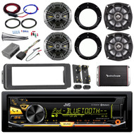 "98-2013 FLHT Harley Bluetooth CD Kit,Amplifier and Kit,Kicker 5.25"" and 6.5"" Set"