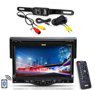 """Pyle 7"""" LCD CD Mp3 Bluetooth AUX Car Receiver, Pyle Weatherproof Back Up Camera"""