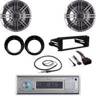 Lanzar CD Stereo, Harley 98-2013 FLHTC Install Kit, Antenna, Speakers/ Adapters