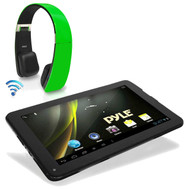 Pyle Android 4.2 Bluetooth Wifi Dual Camera Tablet, Green Bluetooth Headphones