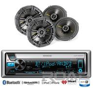 "Kicker Car 2Way 6.5""Coaxial Speaker Set,Kenwood Bluetooth CD USB For iPod Radio"
