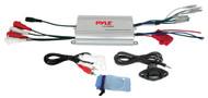 Lanzar AQMP70BTS Silver Bluetooth AM/FM-MPX In-Dash Marine SD/MMC/USB Player Receiver, Lanzar AQ7CXS Lanzar 500 Watts 7.7'' 2-Way Marine Speakers (Silver Color), PLMRMP3A Pyle 4 Channel Waterproof MP3/ Ipod Marine Power Amplifier (White)