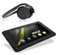 Black Wireless Headphones, Pyle Astro 9'' Android Bluetooth Touch Wi-Fi Tablet