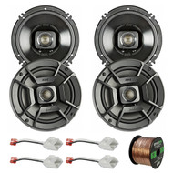 "4x Polk Audio 6.5"" 300W 2 Way Car/Marine ATV Stereo Coaxial Speakers DB652, 4x Metra 72-6514 Speaker Harness for Select Chrysler/Dodge Vehicles, Enrock Audio 16-Gauge 50 Foot Speaker Wire"