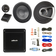 "2x Polk Audio MM1 MM6502 Series 375W Ultra-Marine Certified 6.5"" Component Speaker System, PA330 330W 2 Channel Car Amplifier, Enrock Audio 16-Gauge 50 Foot Speaker Wire"