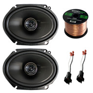 "2x Pioneer TS-G6845R 250 Watt 6x 8"" 2-Way Coaxial Car Audio Speakers, 2x Metra 72-5600 Speaker Adapter for Select 98' and up Ford Vehicles (pair), Enrock Audio 16-Gauge 50 Foot Speaker Wire"