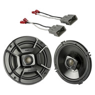 "2x Polk Audio 6.5"" 300W 2 Way Car/Marine ATV Stereo Coaxial Speakers, 2x Metra 72-7800 Speaker Connector Harnesses for Select 1991-up Honda and Acura Vehicles"