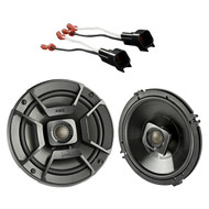 "2x Polk Audio 6.5"" 300W 2 Way Car/Marine ATV Stereo Coaxial Speakers, 2x Metra 72-5600 Speaker Adapter for Select Ford Vehicles"