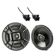 "2x Polk Audio 6.5"" 300W 2 Way Car/Marine ATV Stereo Coaxial Speakers, 2x Metra 72-4568 Speaker Wire Harness for Select GM Vehicles"