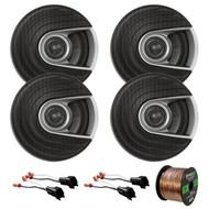 "4x Polk Audio MM Series Ultra Marine Certified 6.5"" 2 Way Coaxial Car / Boat Speakers, 4x Metra 72-5600 Speaker Adapter for Select Ford Vehicles, Enrock Audio 16-Gauge 50 Foot Speaker Wire"