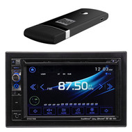 "Dual AV DV637MB Double Din 6.2"" Touch Screen DVD Bluetooth USB Receiver, DUAL DMH25 DualCast(TM) Wi-Fi USB/HDMI(R) Dongle for improved storage"