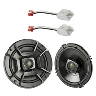 "2x Polk Audio 6.5"" 300W 2 Way Car/Marine ATV Stereo Coaxial Speakers, 2x Metra 72-6514 Speaker Harness for Select Chrysler/Dodge Vehicles"