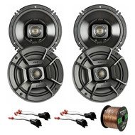 "4x Polk Audio 6.5"" 300W 2 Way Car/Marine ATV Stereo Coaxial Speakers DB652, 4x Metra 72-5600 Speaker Adapter for Select Ford Vehicles, Enrock Audio 16-Gauge 50 Foot Speaker Wire"