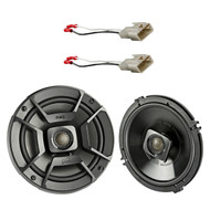 "2x Polk Audio 6.5"" 300W 2 Way Car/Marine ATV Stereo Coaxial Speakers, 2x Metra 72-8104 Speaker Connector for Select Toyota Vehicles"