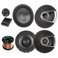 "2x Polk Audio MM MM652 Series Ultra Marine Certified 6.5"" 2 Way Coaxial Car / Boat Speakers, 2x MM6502 375W Marine 6.5"" Component Speaker System, Enrock Audio 16-Gauge 50 Foot Speaker Wire"