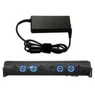 "Audio Package: Bazooka 36"" Bluetooth Party Bar with RGB LED Illumination System, 7 Amp AC to DC Adaptor - Home Power Supply"