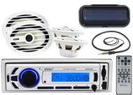 "Marine 6x9"" 2Way Speakers, Enrock Bluetooth AUX USB Mp3 Radio, Cover & Antenna"