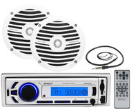 "EKMR256BT Bluetooth Marine AUX USB Radio,6.5""Marine Full Range Speakers,Antenna"