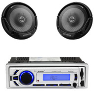 "Enrock USB SD Bluetooth AM FM Radio,2 Kenwood 6.5""300W Coaxial 2way Car Speakers"