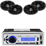 "6x9"" JVC 400W 3Way Coaxial Car Speakers, Enrock Bluetooth Mp3 AM FM USB Radio"