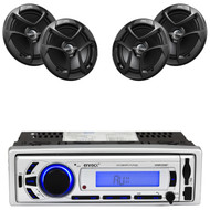 "4 JVC 6.5"" 300W 2Way Coaxial Car Speakers, Enrock Bluetooth USB AM FM Mp3 Radio"