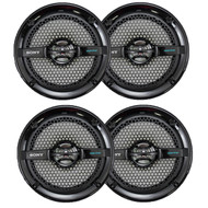 "4 X Sony 6.5"" 280 Watt Dual Cone Marine Speakers Stereo Black XS-MP1611B"