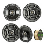 "4X Polk Audio 6.5"" 300W 2 Way Car/Marine ATV Stereo Coaxial Speakers, 2x 6.5"" Wake board Speakers 1 x PLMRA620 Pyle 6 Channel Amp w/Amp Kit"