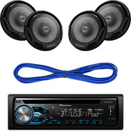 "Pioneer Bluetooth CD AUX Mp3 USB Radio, 2 KFC-1665S 6.5"" Car Speaker &  Wiring (CMAPN232)"