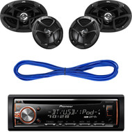 "DEH-X6900BT CD USB Bluetooth Radio,6x9"" &6.5"" Car Speakers System, Speaker Wire (CMAPN246)"