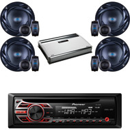 "Pioneer CD AUX AM FM Car Mp3 Receiver, 6.5"" 300 Watts Speakers, 720W Amplifier (CMAPN810)"