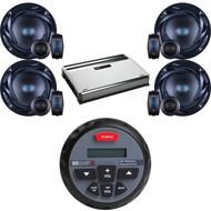 "GMR1 USB Bluetooth Marine Round Receiver, 6.5""300W 2Way Speakers, 720W Amplifier (CMAPN825)"