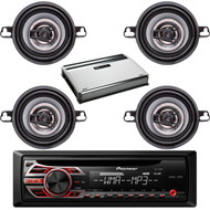 "Pioneer Car AUX Mp3 CD AM FM Receiver, 3.5""150W Coaxial Speakers, 720W Amplifier (CMAPN835)"