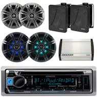 "Bluetooth USB Boat Radio,4""Kicker Speakers,8""Speaker,6.5""Box Speakers, Amplifier (EKICMP16565)"