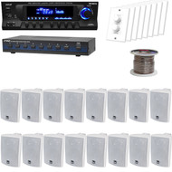"4"" White Box 3Way Speakers,Speaker Selector,Volume Knob, USB Mp3 Receiver, Wires (HAPN0266)"
