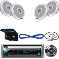 Kenwood Receiver, Wired Remote, 2X 2-Way Speakers, 120W, Wire, Antenna, Cover  (MBNPN407)