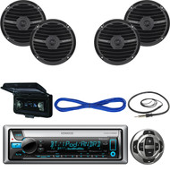"Kenwood Marine Receiver, Wired Remote, 2X 6.5""Speakers, Wire, Antenna, Cover  (MBNPN443)"