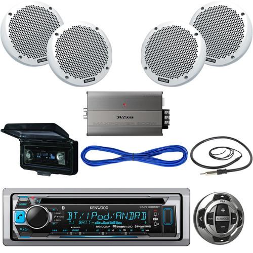 kmr d368bt bluetooth cd boat receiver remote 6 speakers wires amp rh roadentertainment com Kenwood Amp Wiring Diagram Kenwood Amp Wiring Diagram