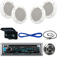 "Marine KMRD368BT Bluetooth CD Radio, 6.5""Speakers/ Wires, Remote, Antenna, Cover (MBNPN519)"