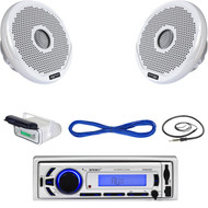 "Enrock Marine Bluetooth USB Radio, Housing, 4"" 120W Speakers w/ Wiring, Antenna  (MBNPN604)"
