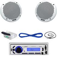 "Enrock Bluetooth Marine USB Mp3 Receiver, Antenna, Housing, 6"" Speakers/ Wiring  (MBNPN610)"