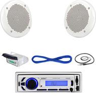 "Enrock Marine Bluetooth USB Radio, Housing, 6.5"" Speakers/ Speaker Wire, Antenna (MBNPN616)"