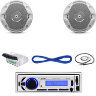 "Enrock USB Marine Bluetooth Receiver, Housing, JBL 6.5""Speakers w/Wires, Antenna (MBNPN622)"