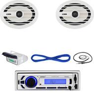 "Marine Bluetooth USB SD Mp3 Radio,Housing , 6x9""Marine Speakers/Wiring, Antenna  (MBNPN628)"