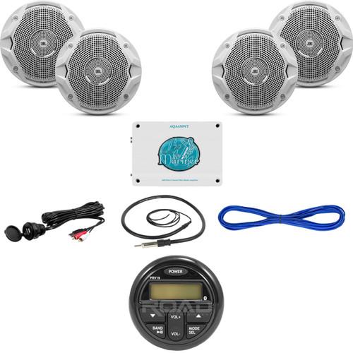 1600w marine amplifierbluetooth usb radiointerface65 speakers image 1 sciox Choice Image