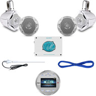 "AQR82S Bluetooth AUX USB Marine Radio, 6.5"" Speaker Set/Wires, 1600W Amp,Antenna (MBNPN834)"
