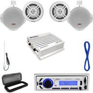 500W Marine Amplifier,Marine Speaker Set/Wires,USB Bluetooth Radio,Antenna,Cover (MP16N0039)