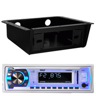 Pyle PLMRB29W Bluetooth MP3 USB AUX SD Receiver Player, Underdash Stereo Housing (MPOSK1700)