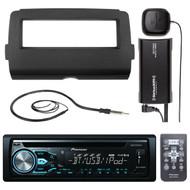 DEHX4900BT USB Bluetooth CD Radio, Antenna, Harley 2014-UP Installation DIN Kit (R-DEHX4800BT-SXV300-V1-HD7001B)